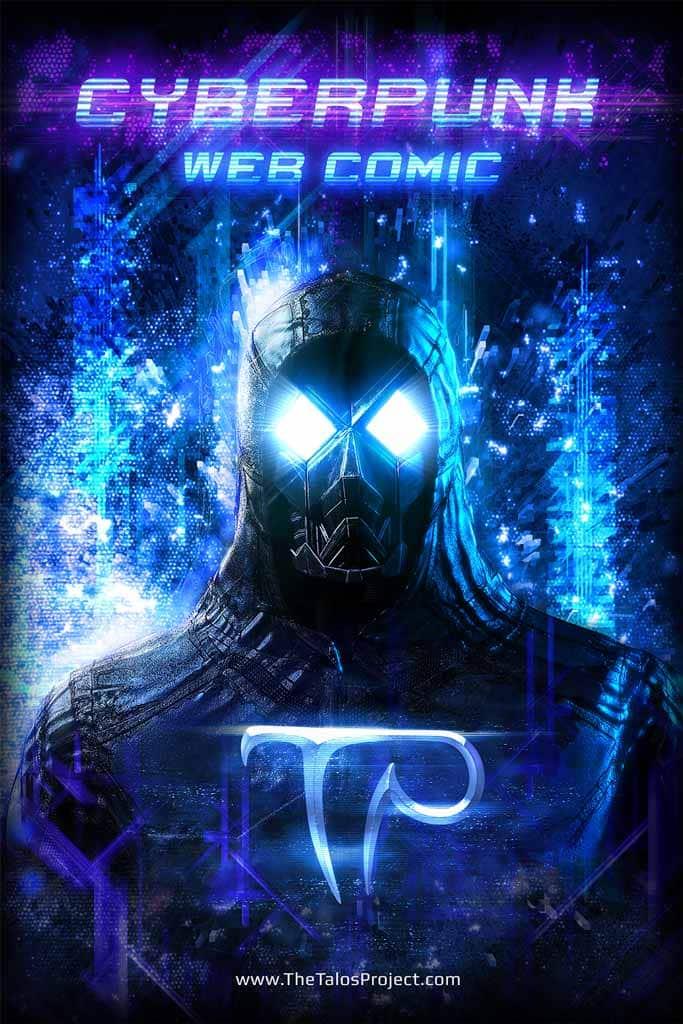 Talos Cyberpunk Web Comic Poster