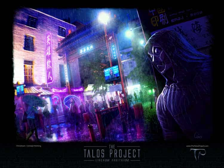 Talos - Chinatown concept art print