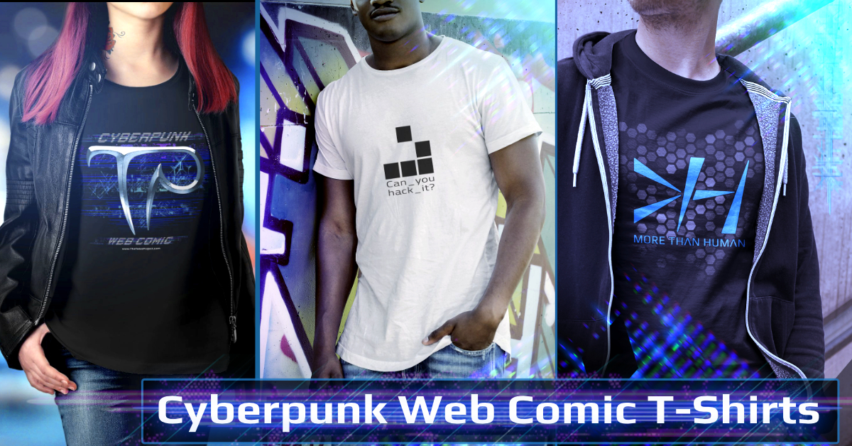 Cyberpunk Comic T-Shirts