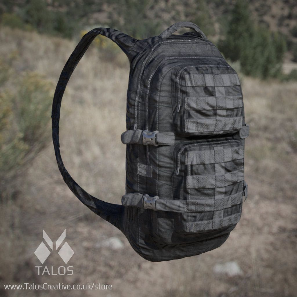 3d Model: Army backpack game jungle, desert, urban camo