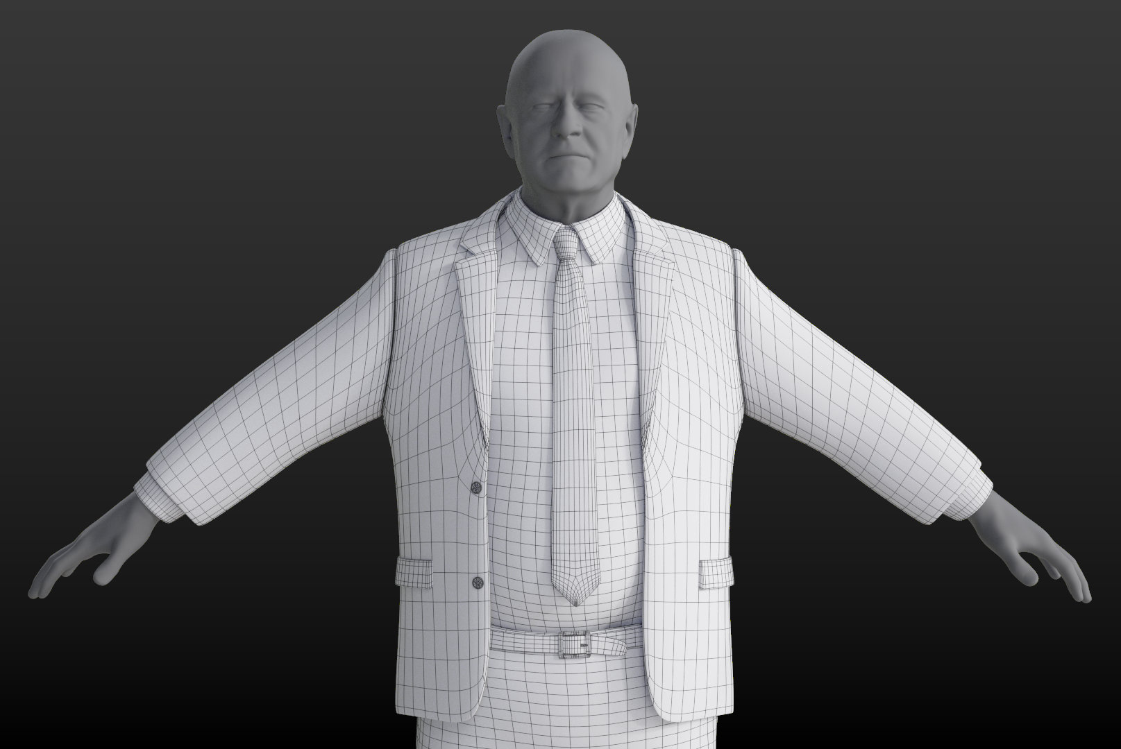 3D Clothing Model: Smart Suit - Heavy Male